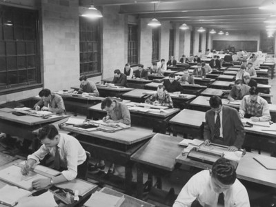 Engineering mechanical drawing - Parker, University Archives, call number: 85S:2(2) © UB Archives   Please contact University Archives at lib-archives@buffalo.edu for permission to use this image.