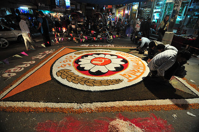 I guess it has to do with Diwali - huge canvas made of beans