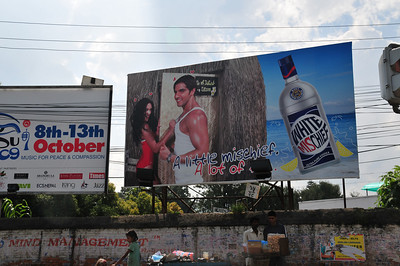 First time I come across this billboard. White Mischief!