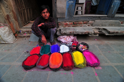Colors galore. These street sellers of spices are a gem for photographers.