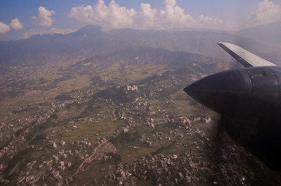 Nepal from 5km in the air