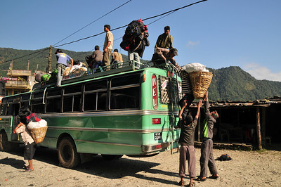 These guys travel on top of buses