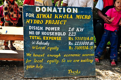 I couldn't believe the used the words 'local equity' in this sign. Clearly NGO speak