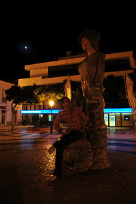 Alik likes posing with the local art scene