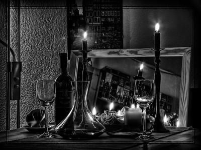 Candle Light b&w