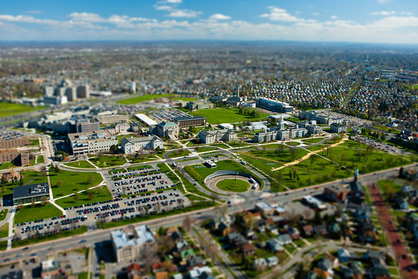 Aerial Photos of the University at Buffalo South Campus<br /> <br /> Photograph: Douglas Levere