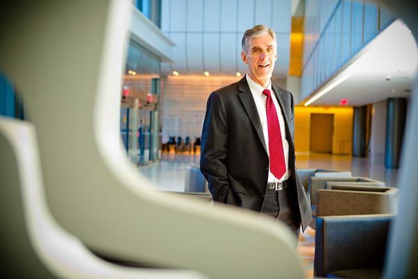 Dr Timothy Murphy inside the CTRC in Downtown Buffalo<br /> <br /> Photograph: Douglas Levere