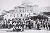 University at Buffalo Band at the United States Capitol, Washington, D.C., ca. 1970<br /> <br /> Photographer: Unknown © UB Archives<br /> <br /> Please contact University Archives at lib-archives@buffalo.edu for permission to use this image.