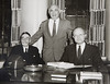 Left to right Samuel P. Capen, Clifford C. Furnas, and T.R. McConnell. Photograph ca. 1954.<br /> <br /> Photographer: Unknown © UB Archives<br /> <br /> Please contact University Archives at lib-archives@buffalo.edu for permission to use this image.