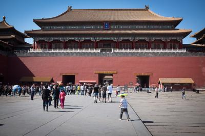 Entrance to Forbidden City. Tourism galore.