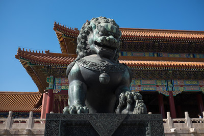 Lion as imagined by the Chinese a few centuries ago.