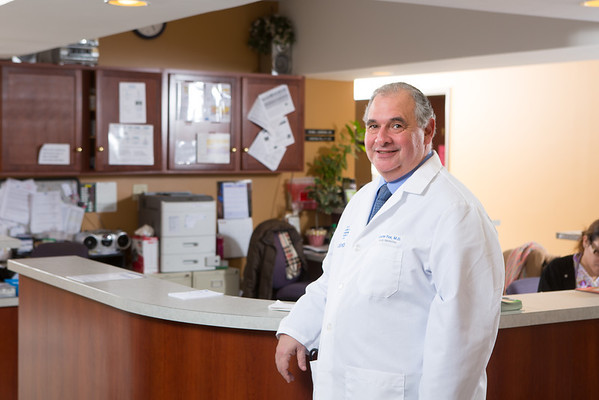 Dr. Chester Fox at the Jefferson Family Medicine Center<br /> <br /> Photograph: Douglas Levere