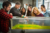 Civil Engineering Professor James Jensen with Students in Jarvis Hall Lab<br /> <br /> Photograph: Douglas Levere