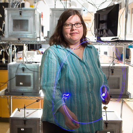 Portrait of Caroline Bass, Research Assistant Professor of  Pharmacology And Toxicology in the Biomedical Research Building<br /> <br /> Photograph: Douglas Levere