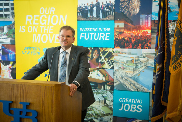 Press Conference Announcing UB to partner with EWI on advanced manufacturing institute.<br /> <br /> Photographer: Douglas Levere