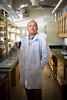 Photos of Assistant Professor in Pharmacology and Toxicology,  Dr. Jun-Xu Li in his Biomedical Research Building Lab<br /> <br /> Photograph: Douglas Levere