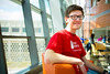 James Schuler Student in Bioinformaticas and Mathematics in Davis Hall<br /> <br /> Photograph: Douglas Levere