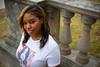 Portrait of School of Social Work Student, Tabitha Lumley for the Awareness of Philanthropy Development Publication. Outsitde Parker Hall<br /> <br /> Photograph: Douglas Levere