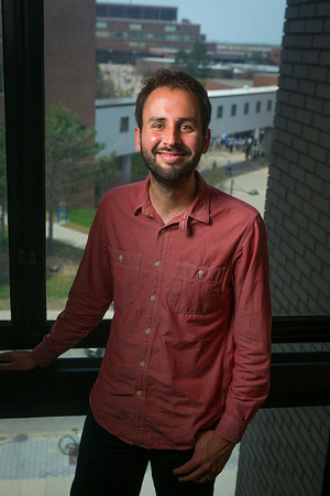 Portrait of English Assistant Professor, David Alff om Clemens Hall<br /> <br /> Photographer: Douglas Levere