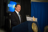 Governor Andrew Cuomo and President Satish Tripathi at the Startup New York Presentation at Roswell Park Cancer Center Downtown Buffalo<br /> <br /> Photographer: Douglas Levere