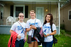 Left to Right, Casandra Micolia, Erin Dings, Li In Wong. Day of Caring with the School of Management in the University Heights<br /> <br /> Photographer: Douglas Levere
