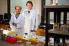 Engineering faculty member Debanjan Sarkar with graduate student Michael Hill, in Bonner Hall<br /> <br /> Photographer: Douglas Levere