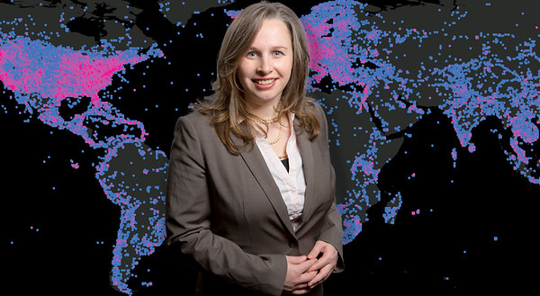 Assistant Professor in Geography, Monica Stevens in Wilkeson Hall<br /> <br /> Photographer: Douglas Levere