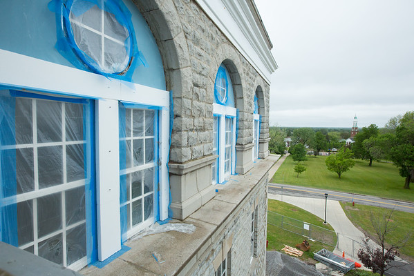 Ongoing construction and renovation of Hayes Hall on South Campus<br /> <br /> Photographer: Douglas Levere