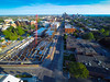 Photographs and aerial views of ongoing medical school construction in downtown Buffalo<br /> <br /> Photographer: Douglas Levere