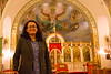 Assistant Professor Ashima Krishna in the School of Architecture and Planning at Saints Peter & Paul Orthodox Church in the Lovejoy Section of Buffalo, NY<br /> <br /> Photographer: Douglas Levere
