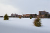 Buildings on North Campus covered in snow<br /> <br /> Photographer: Chad Cooper