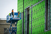 Window installation on new medical school building in downtown Buffalo<br /> <br /> Photographer: Douglas Levere