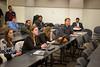 At Right, Robert Neubert, clinical assistant professor in the Entrepreneurship eLab Class, Jabobs Hall<br /> <br /> Photographer: Douglas Levere