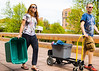 Students from UB ReUSE helping to clean out dorms and recycle items in the Ellicott Residence Hall Complex at the end of spring semester <br /> <br /> Photographer: Chad Cooper