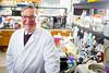 Portrait of Dr Robert Genco in Foster Hall Lab<br /> <br /> Photographer: Douglas Levere