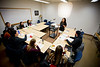 Allison Zorzie Shaw teaching a course in Baldy Hall<br /> <br /> Photographer: Douglas Levere