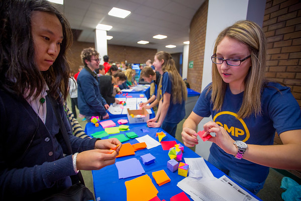 UB Gifted Math Program Hosting its Mathematics Festival on Pi Day 2016<br /> <br /> Photographer: Douglas Levere