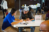 Nursing students checking blood pressure at Lincoln Memorial Church<br /> <br /> Photographer: Douglas Levere