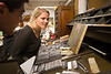 Barbara Bono, Professor of English, and students using the letterpress machines at the Western New York Book Arts Center in downtown Buffalo<br /> <br /> Photographer: Douglas Levere