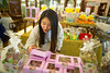 International students gather at Parkside Candies on Main Street<br /> <br /> Photographer: Douglas Levere