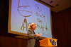 Political cartoonist Tom Toles speaking during the Signature Series in Slee Hall<br /> <br /> Photographer: Douglas Levere