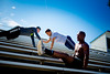 Elijah Tyson and Students at Kunz Fields Working out in the BarbarianZ Fitness System<br /> <br /> Photographer: Douglas Levere