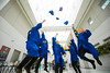 Electrical Engineering students celebrating graduation in the Center for the Arts<br /> <br /> Photographer: Douglas Levere