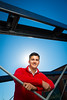 Portrait of Engineering Student James McKeehan at Canalside Historic Bridge<br /> <br /> Photographer: Douglas Levere