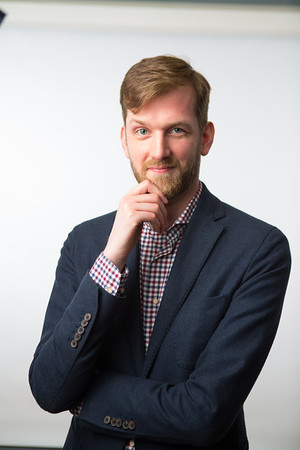 Portrait of Ryan Muldoon, assistant professor of Philosophy<br /> <br /> Photographer: Douglas Levere