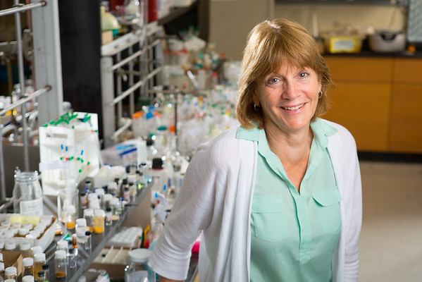 Portrait of UB Distinguished Professor of Chemistry Janet Morrow in Natural Sciences Complex<br />  <br /> Photographer: Douglas Levere