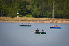 English Language Institute canoeing on Lake LaSalle during Warm Weather Wednesday<br /> <br /> Photographer: Douglas Levere