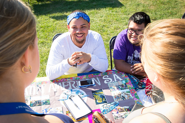 Students during opening weekend on North Campus<br /> <br /> Photographer: Douglas Levere