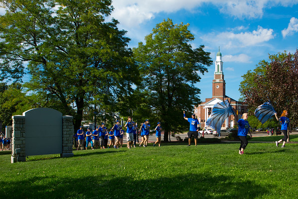 UB Block Party with students and community members in front of Hayes Hall<br /> <br /> Photographer: Douglas Levere