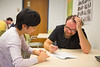 Students being tutored in the Center for Excellence in Writing in Baldy Hall<br /> <br /> Photographer: Douglas Levere